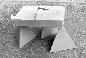 Dolmen. Press moulded, modified 'T' material. 1976.