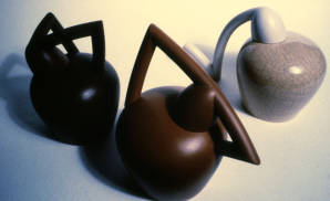 Assassin Bug Jars. Slip-cast earthenware. 1982.