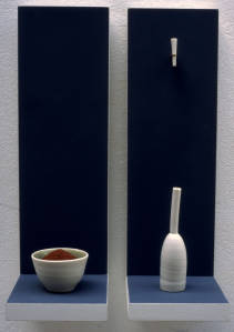 Wall-piece. Thrown, turned and extruded porcelain. 1991