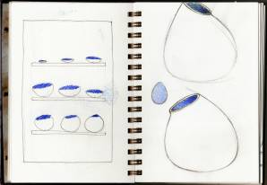 Notebook Flintforms. Pencil and coloured pencil. 1999 onwards