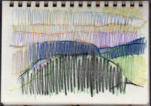 Notebook Landscape. Coloured pencil on paper. 2008.